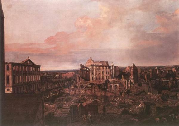 Dresden The Ruins Of The Pirnaische Vorstadt